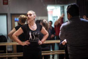 Program Director Gina Safadi also teaches salsa and bachata classes at the Salsa With Silvia dance studio.