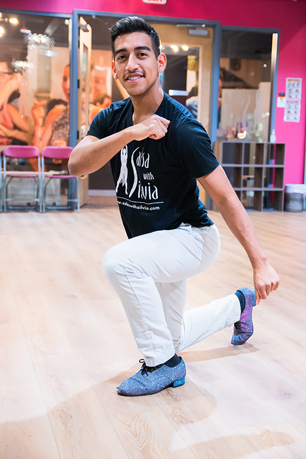 Instructor Chesco teaches Salsa and Bachata at the Salsa With Silvia studios in DC and Bethesda.