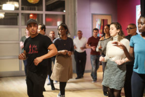 Instructor Joffre teaches salsa and bachata at the Salsa With Silvia dance studio.