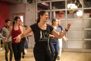 Salsa With Silvia instructor Camille Trotter teaches salsa and bachata lessons for the studio as well as corporate and private events.