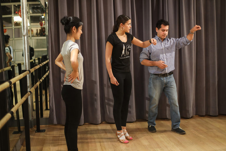 Instructor Camille is also available for private salsa and bachata lessons at the Salsa With Silvia dance studio.