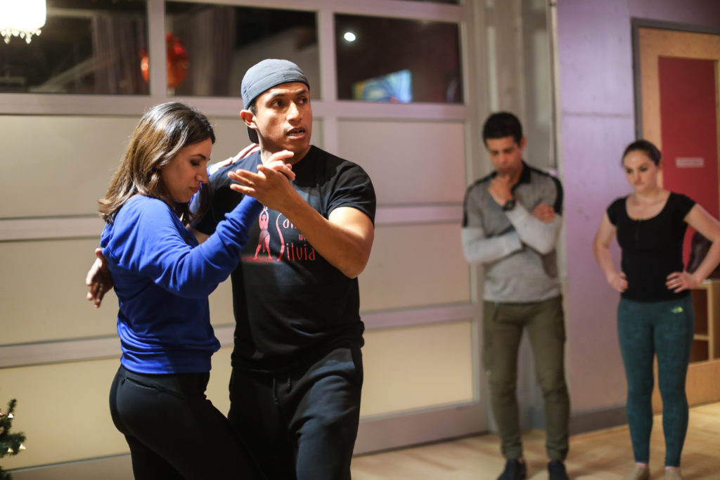 Instructor Joffre teaches salsa and bachata classes at the Salsa With Silvia dance studio.