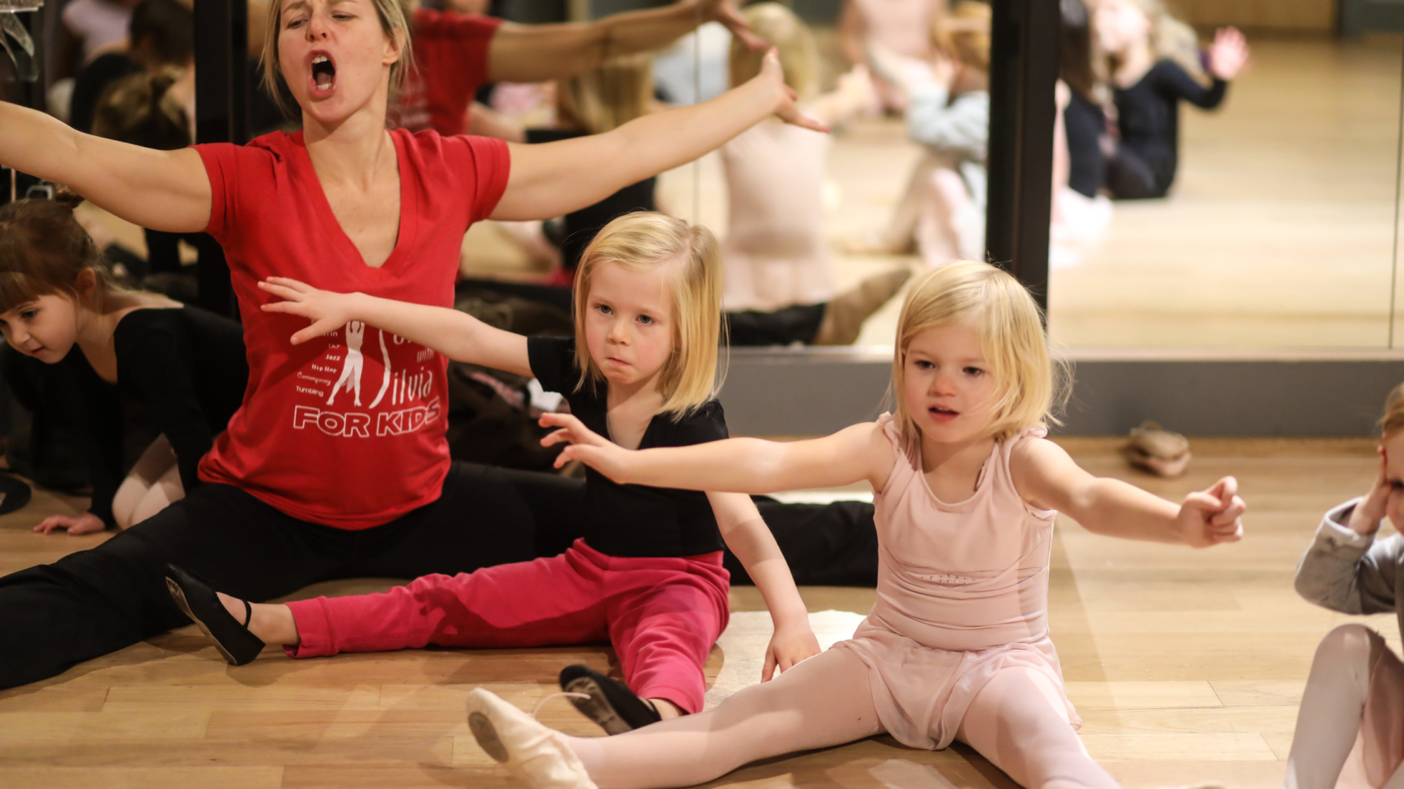 The Salsa With Silvia dance studio offers ballet, tap, jazz, modern, Latin, Hip hop, creative movement, tumbling, Latin and more styles dance classes for kids, summer camp programs, birthday parties and more in DC and Bethesda Row.
