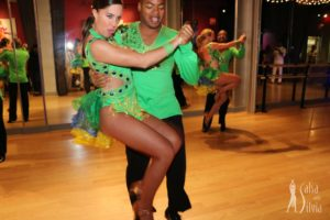Salsa and bachata dance performances by the Salsa With Silvia dance studio.
