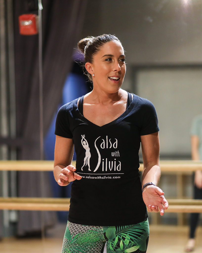 Instructor Kelly is one of the first two Salsa With Silvia teachers. She has been teaching salsa at the studio since 2011.