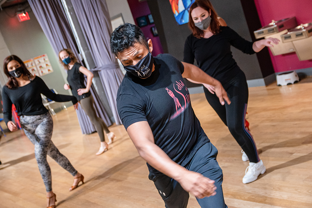 Salsa, Bachata, Heels classes during COVID-19 at the Salsa With Silvia Studio in DC