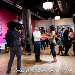 Salsa With Silvia live on ABC7 with Kidd Around Town on Good Morning Washington