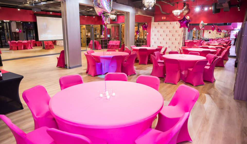 The Salsa With Silvia Ballroom in Bethesda Row is available for rent for weddings, corporate and family events and more