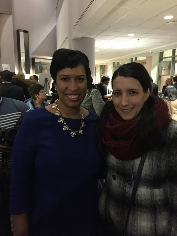 Salsa With Silvia owner Silvia gets personal recognition by DC Mayor Muriel Bowser.