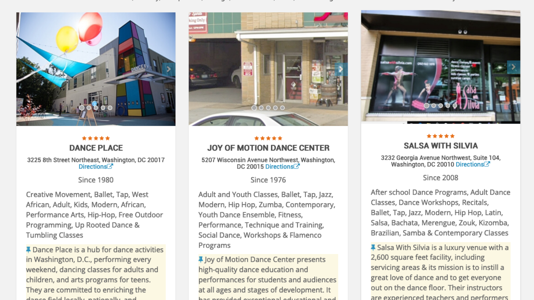 Salsa With Silvia is in the top three best dance schools in DC
