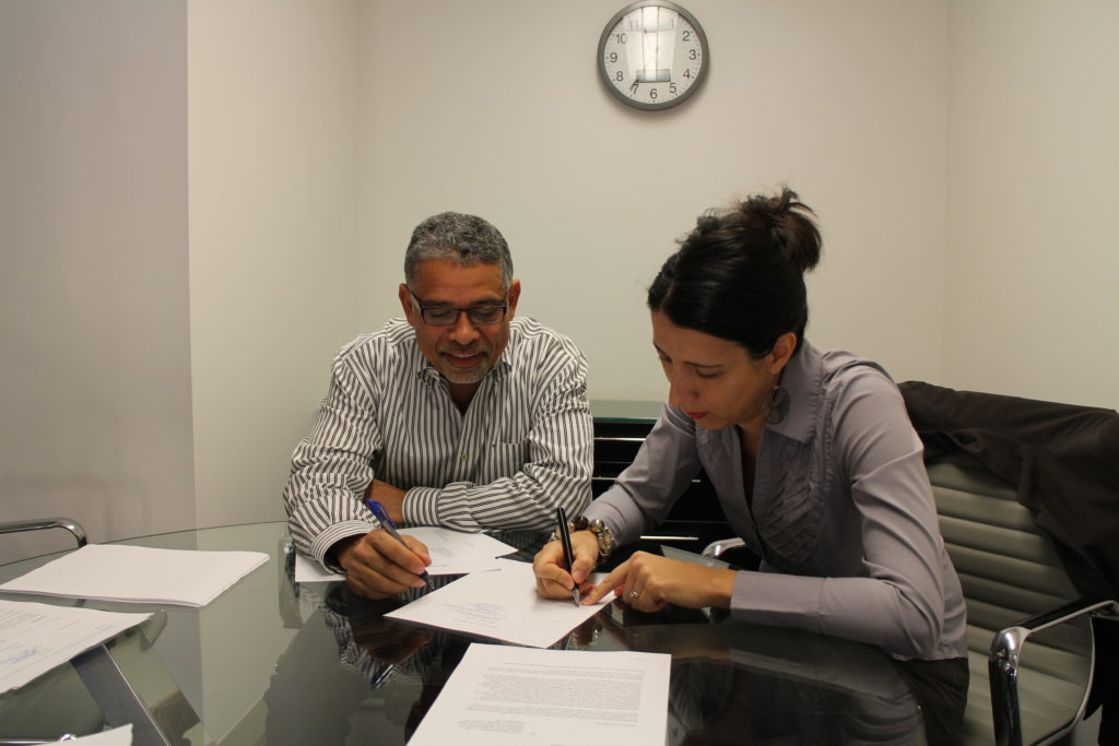 Salsa With Silvia owner Silvia Alexiev signing a lease for her first commercial space in 2015. The 3232 Georgia Ave. NW location became the largest Latin Dance Studio in the DMV when it opened in 2016.