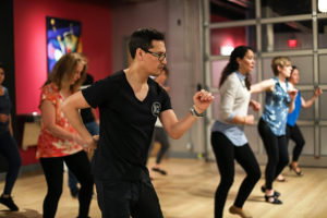Instructor David specializes in bachata but also teaches salsa clases at the Salsa With Silvia dance studio.